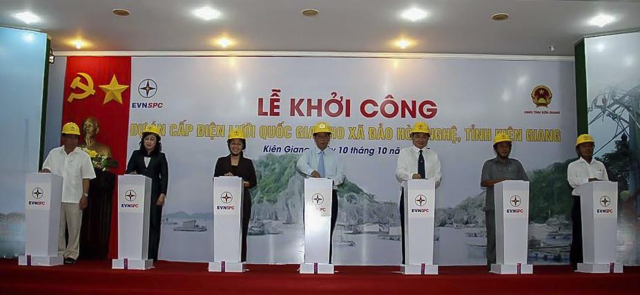 Khởi công Dự án cấp điện lưới Quốc gia cho xã đảo Hòn Nghệ